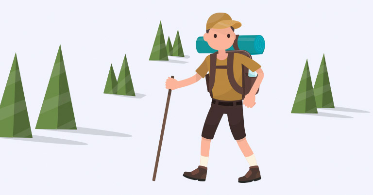 Image d'un homme perdu dans les bois