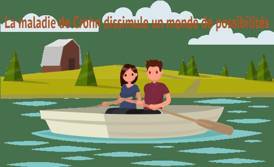 Couple en bateau